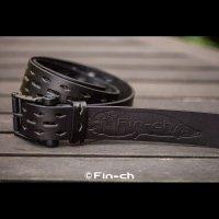 Santiago Leather Belt(サンチャゴ レザーベルト)ブラックXブラック