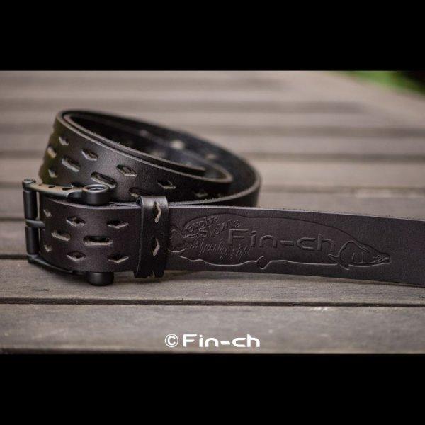 画像1: Santiago Leather Belt(サンチャゴ レザーベルト)ブラックXブラック