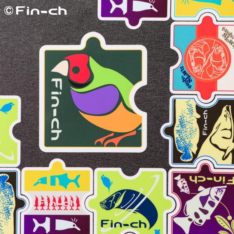 画像1: Fin-chピースステッカー(大判サイズ) (1)