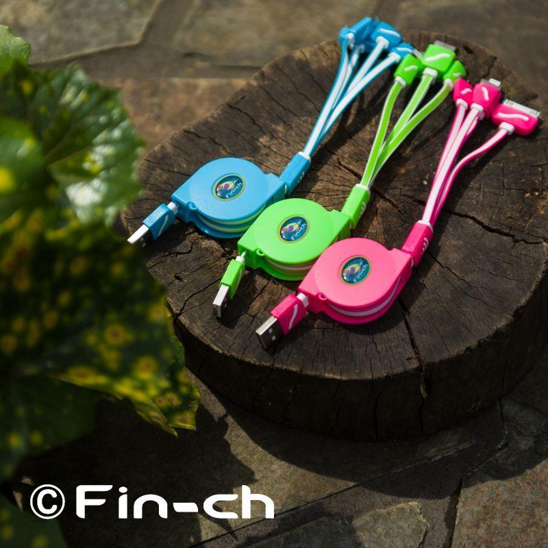 画像1: FIN-CH 4股USBリールコード (1)