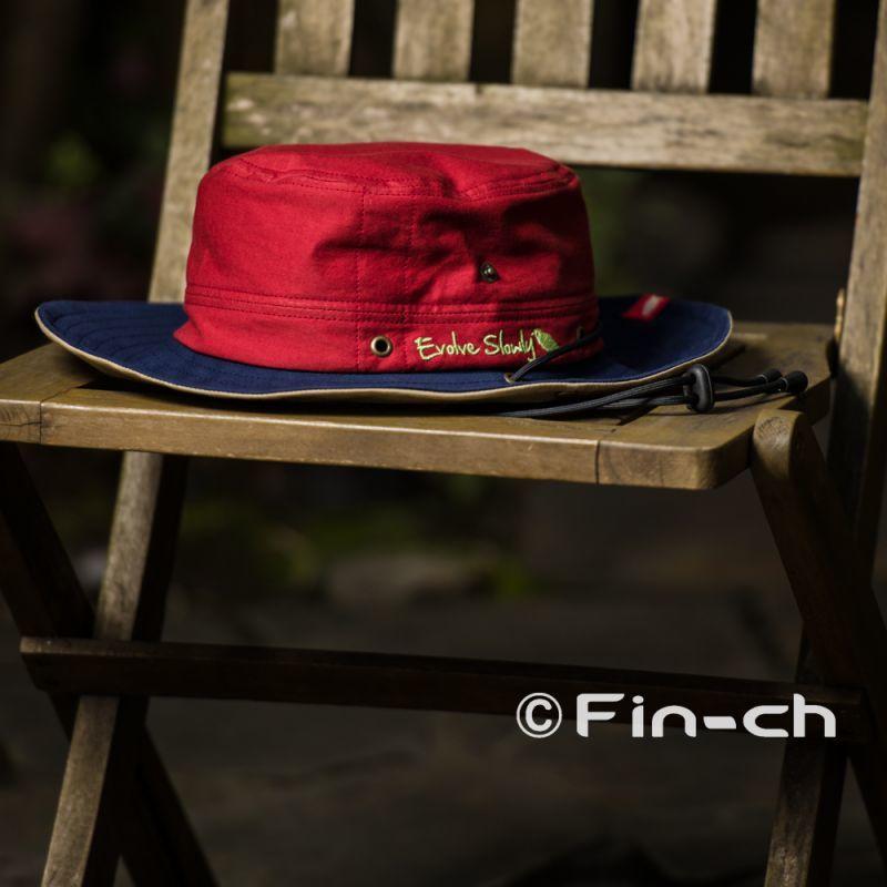画像1: Pinta‐Horizon Hat(ピンタ・ホライズンハット)シグナルレッドxネイビー (1)