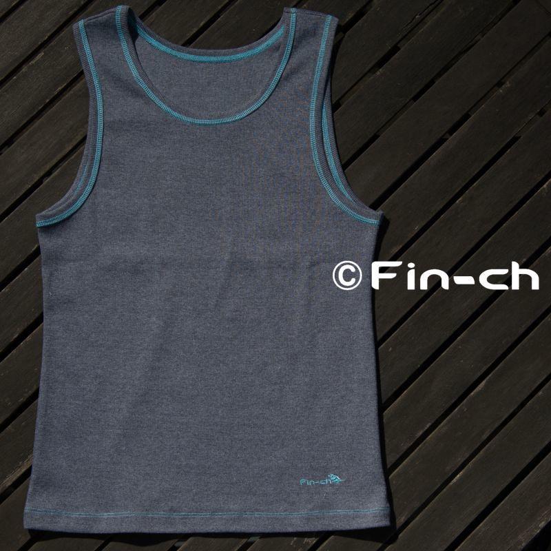 画像1: Isabela-sleeveless(イサベラ-スリーブレス)杢ダークグレイ (1)