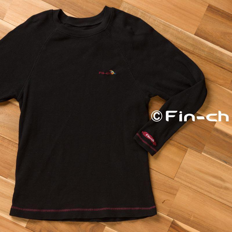 画像1: Isabela10-waffle raglan(イサベラ10-ワッフルラグラン)漆黒(しっこく) (1)